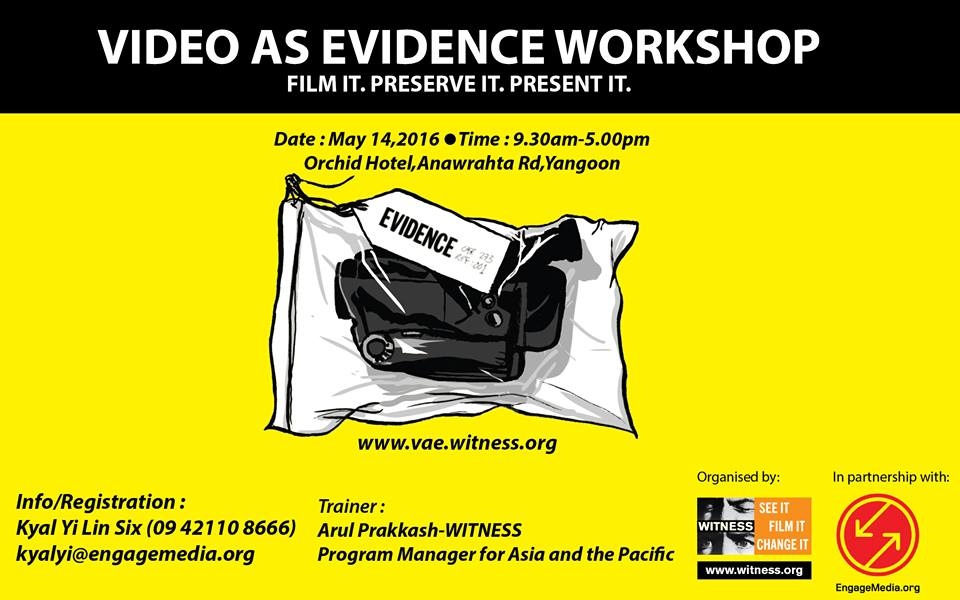 First Video As Evidence Workshop in Myanmar