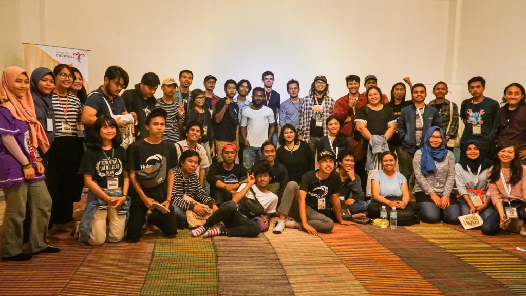 Activists and students at ]13th Jogja-NETPAC Asian Film Festival in Yogyakarta, Indonesia.