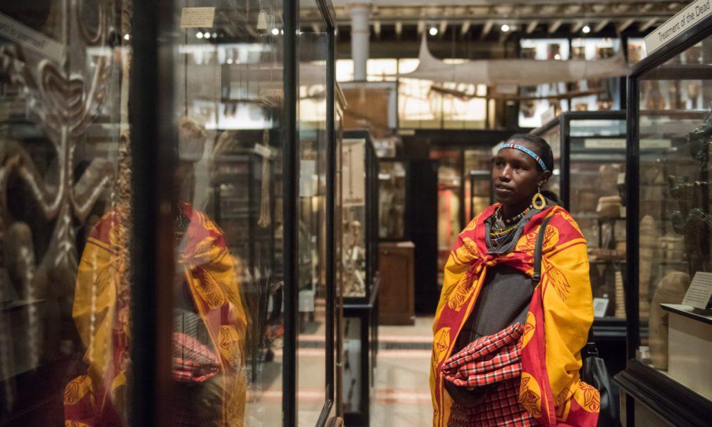 Scholastica Ene Kukutia visits Oxford University's Pitt Rivers Museum. Photo by John Cairns.