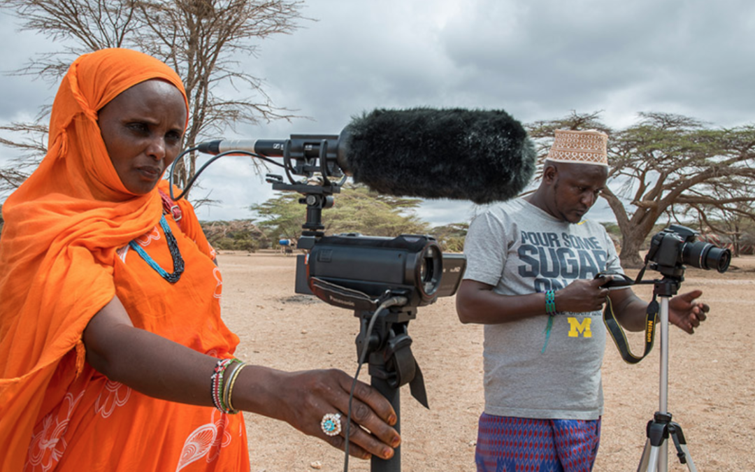 Gabbra woman and Konso man training as community filmmakers in Northern Kenya. Photo by InsightShare