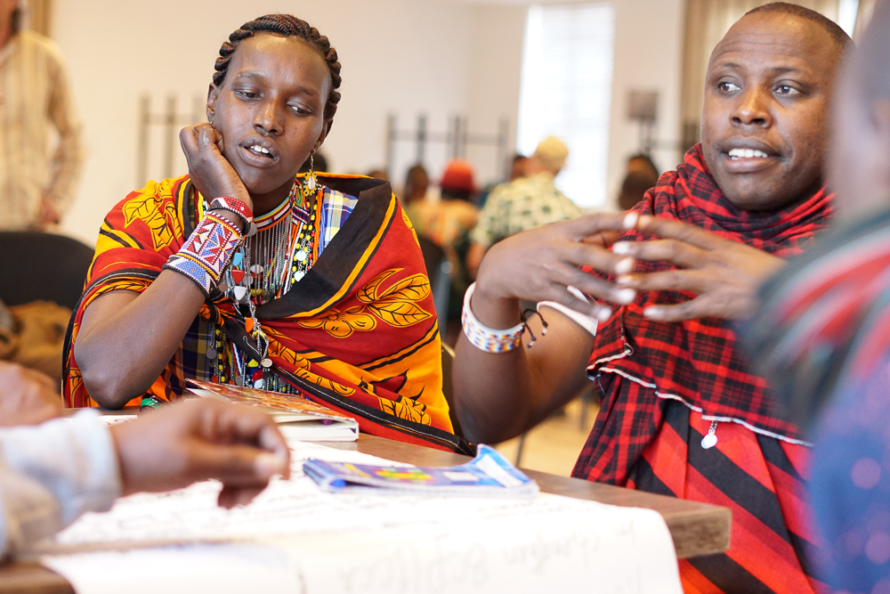 Scholar and Sam from the Maasai people