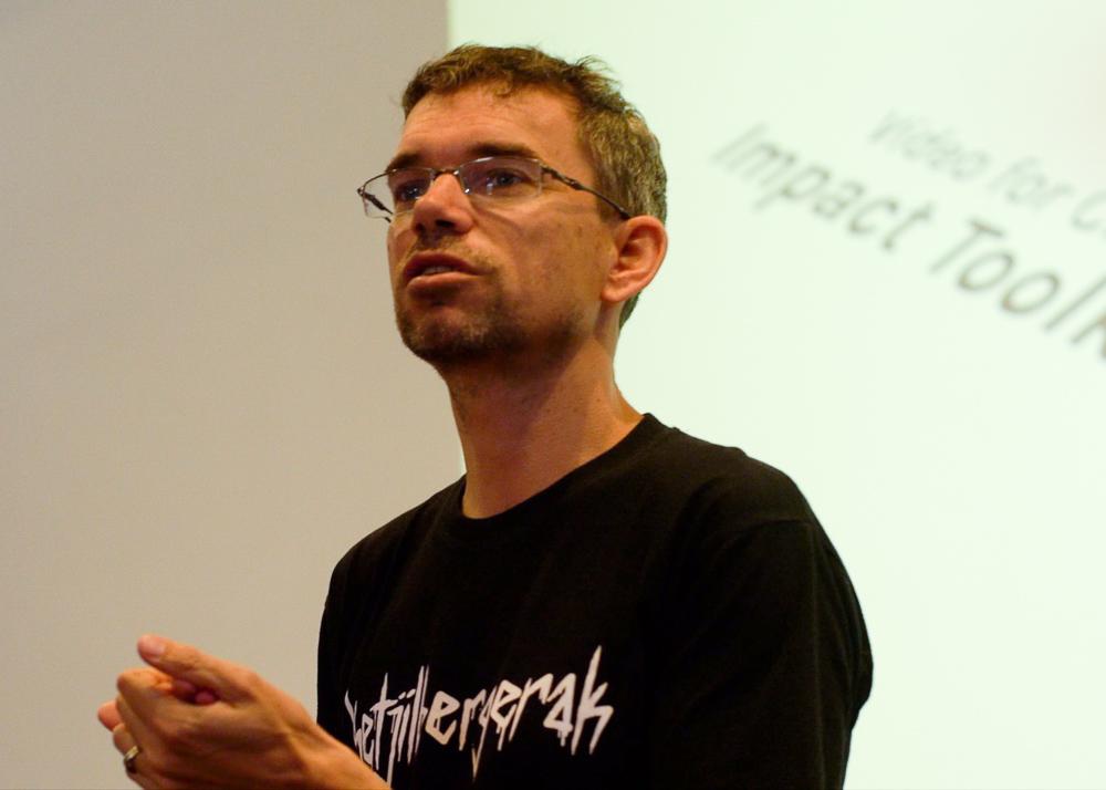 Egbert during his presentation