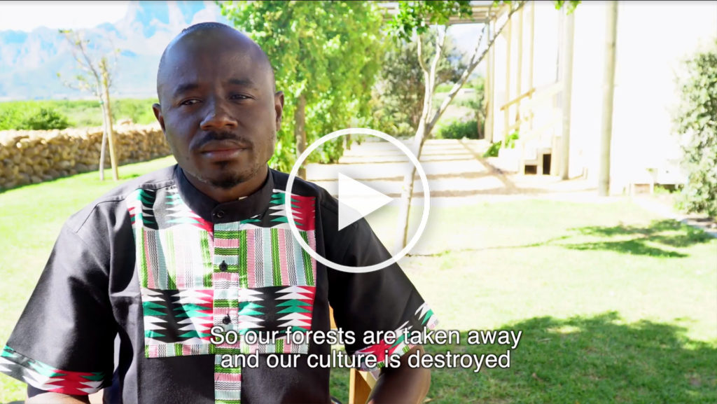 Timothee Emini from OKANI in Cameroon. (Click on the image to watch the video)
