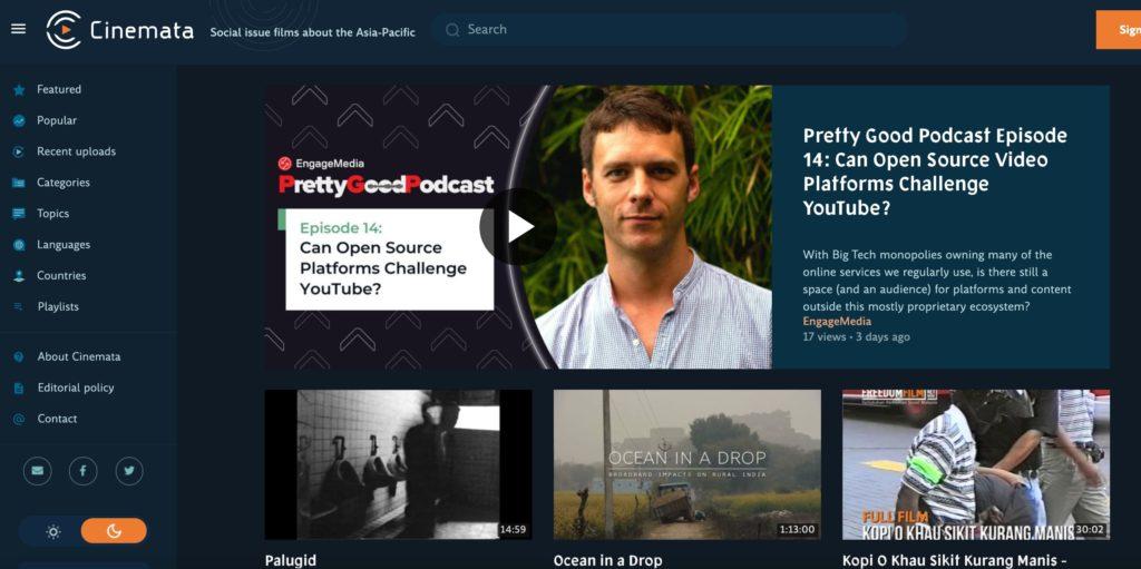 Screenshot from Cinemata.org